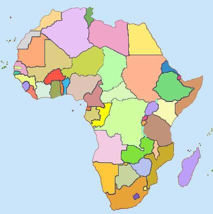 África - mapa en blanco.